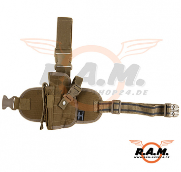 Dropleg Holster Coyote Brown (Invader Gear) für Linkshänder