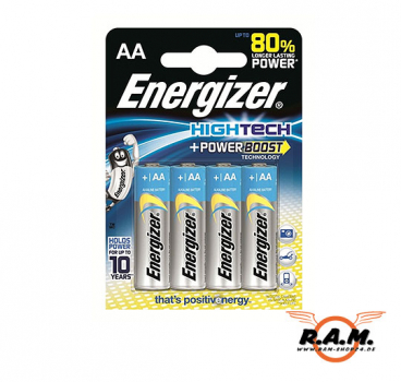 Energizer AA Hightech Power Boost Alkaline Mignon 4er Pack