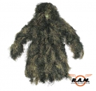 Tarnparka, Ghillie-Suit, woodland