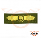 SOF Skull Badge Rubber Patch Gold (JTG)