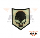 SOF Skull Rubber Patch Black Ghost (JTG)
