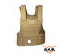Preview: MOLLE II Weste, mit Futter in coyote tan, Modular System