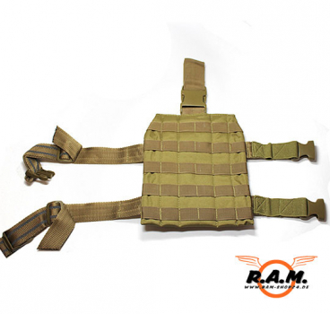 """Molle"" Beinplatte deluxe, Leg Carrier, coyote tan"