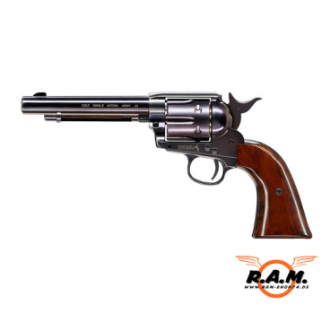 Revolver COLT SAA .45 Peacemaker cal 4.5mm Diabolo - Blued/Brown