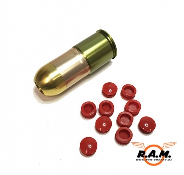 COPPERHEAD 40mm Granade (long) cal. 0.68 / 0.43 / 6mm POWER GRANATE HAMMER!!
