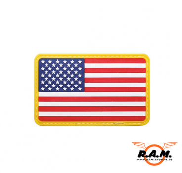 3D Rubber Patch - Fahne USA, 8x5cm
