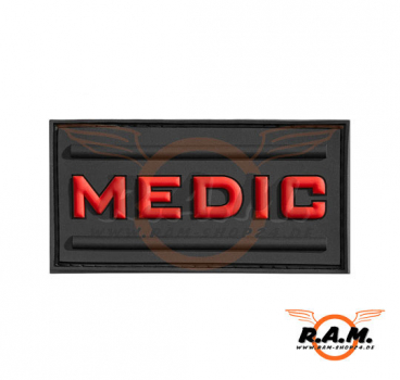Medic Rubber Patch Schwarz Rot 71mm X 47mm