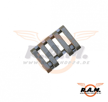 5-Slot Rail Cover with Wire Loom FOL (Element)