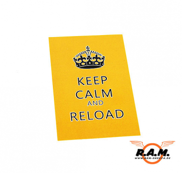 "MAGFED Aufkleber ""KEEP CALM AND RELOAD"" 1 Stück"