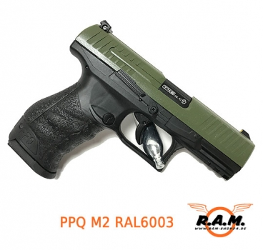 Walther PPQ M2 cal 0.43 RAL6003 Oliv  **Limited Edition**