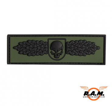 3D - SOF Skull Badge Rubber Patch (FOREST)