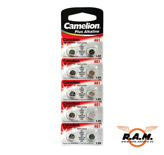 Camelion AG4 Knopfzelle 1,5V, 18mAh, Ø 6,8 mm, H 2,6mm 10 ...