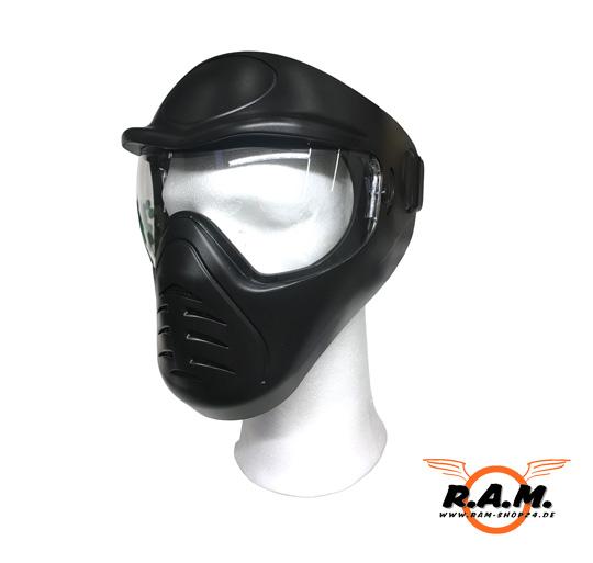 Funsport Anti-Fog Protective Mask in schwarz Bekleidung & Schutzausrüstung