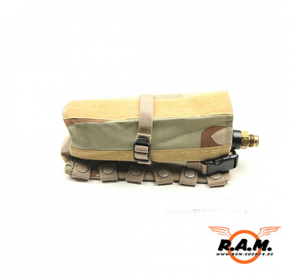 HP / CO2 Flaschen Tasche Horizontal Molle Deluxe in Desert Camo