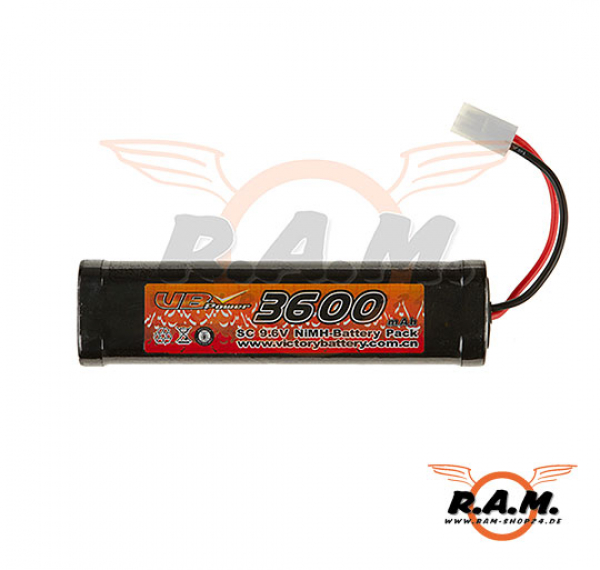 9.6V 3600mAh Large Type VB Power