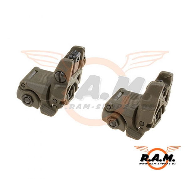 MBUS 2 Front & Rear sight im Set, OD oliv, Deluxe wie MAGPUL