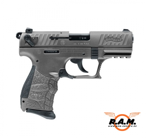 Walther P22Q cal. 9 mm P.A.K. - Tungsten Grey