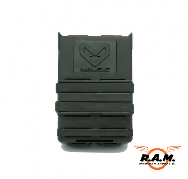 MILSIG M17 / K-Serie / M-Serie FAZ Magazintasche Molle Single Black 2er Pack
