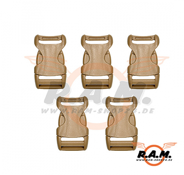 YKK Buckle 25 mm Coyote Brown (5 pcs)