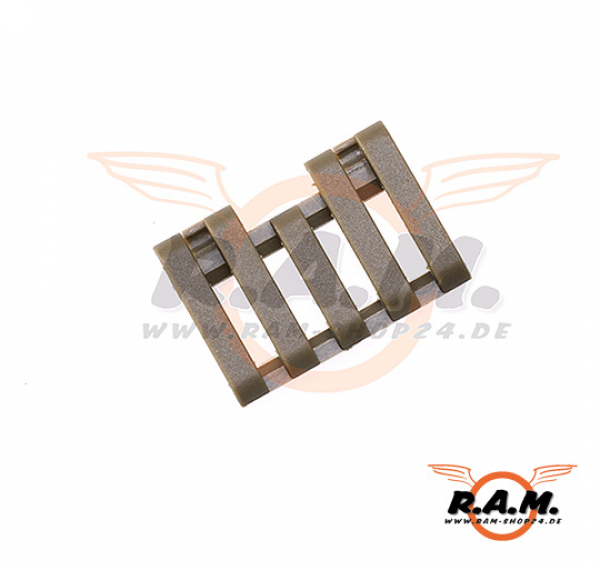 5-Slot Rail Cover with Wire Loom FDE (Element)