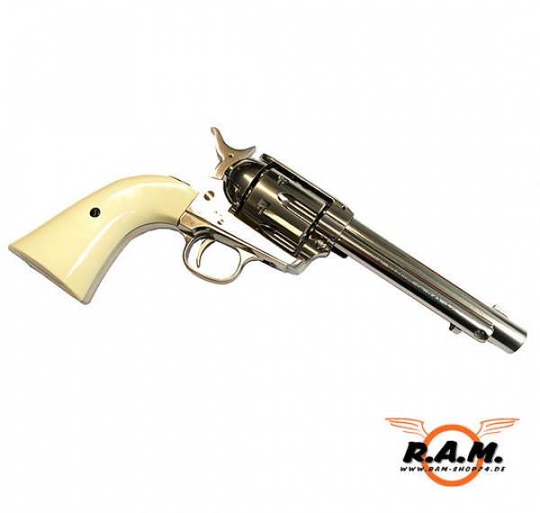 SAA Revolver cal. 0.43 Nickel Finish CUSTOM