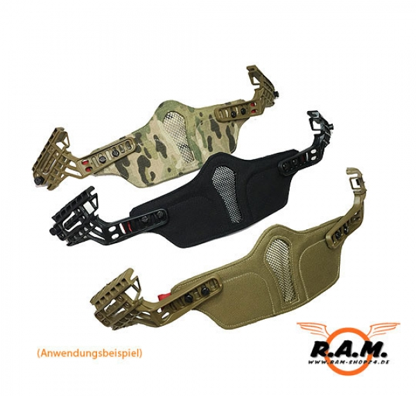 Mundschutz Typ I in Tan / Coyote für Warrior Helmsystem