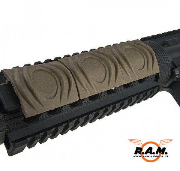 Rubber Rail Cover Dark Earth (10 Stück)