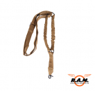 Bungee Gewehrgurt Sling Deluxe 1-Point, coyote