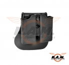 Single Row Double Magazine Pouch Black (IMI Defense)
