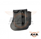 Double Row Double Magazine Pouch Black (IMI Defense)