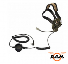 Bow-M Evo K, Tactical Military Headset KENWOOD Stecker & drehbarem Mikro (L/R)
